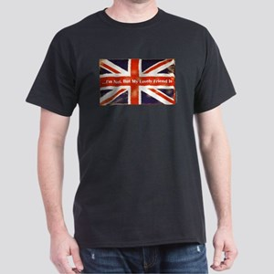 Union Jack British Friends Dark T-Shirt