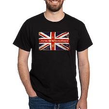 Union Jack British Friends Dark T-Shirt