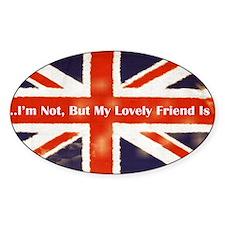 Union Jack British Friends Bumper Sticker