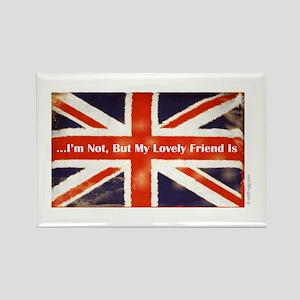 Union Jack British Friends Refrigerator Magnet