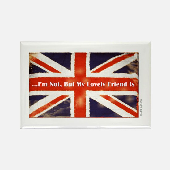 Union Jack British Friends Refrigerator Magnet