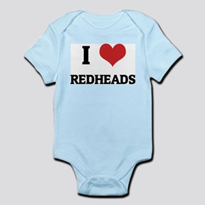 I Love Redheads Infant Creeper