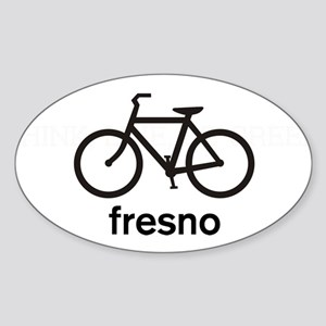 Bike Fresno Oval Sticker