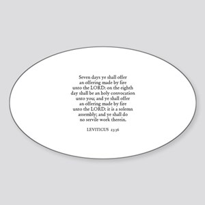 LEVITICUS 23:36 Oval Sticker