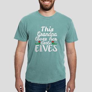 Grandpa Loves Her Little Elves Christmas E T-Shirt