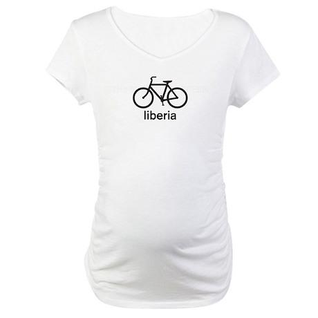 Bike Liberia Maternity T-Shirt
