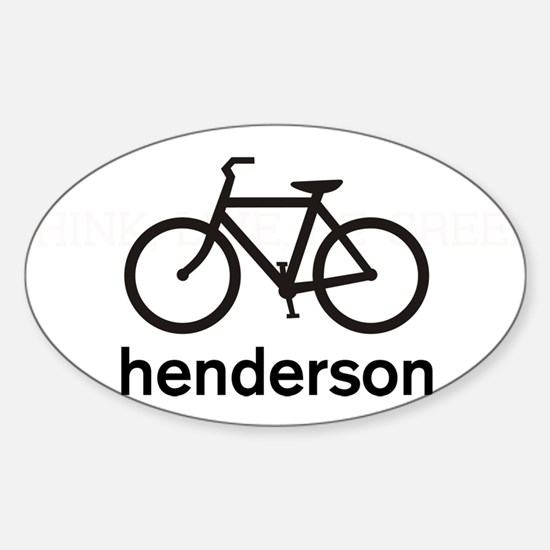 Bike Henderson Oval Decal