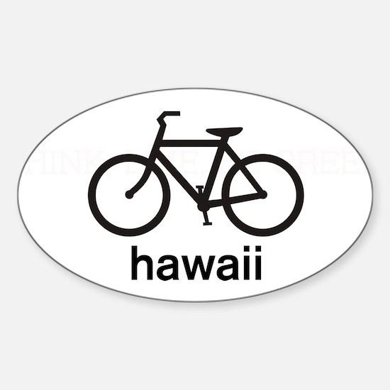 Bike Hawaii Oval Decal