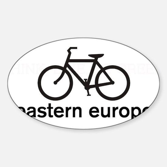 Bike Eastern Europe Oval Decal