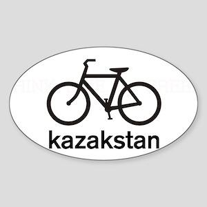 Bike Kazakstan Oval Sticker