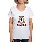 Cold War Berlin Women's V-Neck T-Shirt