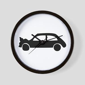 black crash car Wall Clock