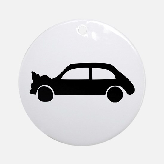black crash car Ornament (Round)