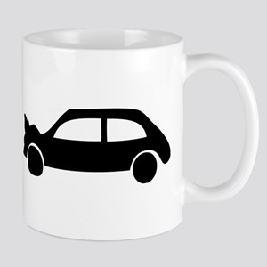 black crash car Mug
