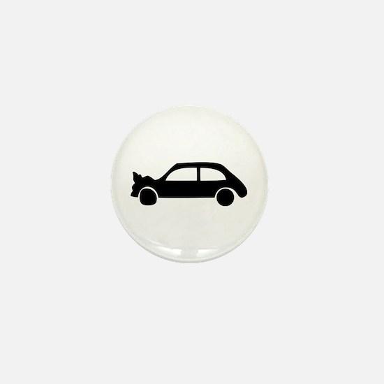 black crash car Mini Button