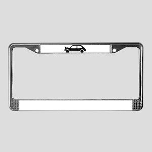 black crash car License Plate Frame