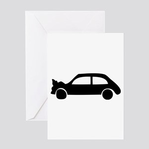 black crash car Greeting Card