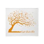 Automne Leaves Orange Throw Blanket
