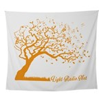 Automne Leaves Orange Wall Tapestry
