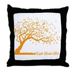 Automne Leaves Orange Throw Pillow