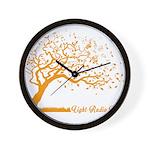 Automne Leaves Orange Wall Clock