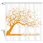 Automne Leaves Orange Shower Curtain