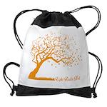 Automne Leaves Orange Drawstring Bag