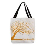 Automne Leaves Orange Polyester Tote Bag