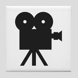 black cine camera hollywood Tile Coaster