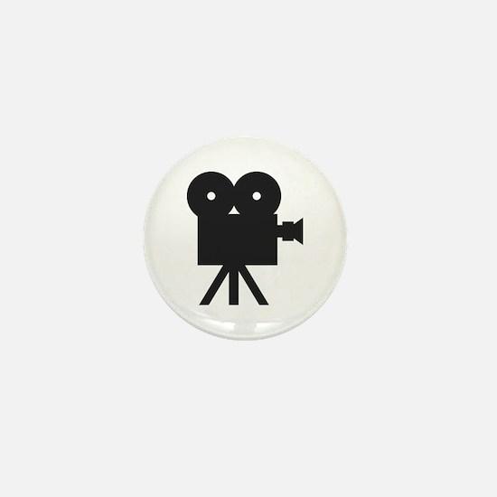 black cine camera hollywood Mini Button