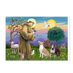 St Francis - 2 Bull Terriers (10-11) Postcards (Pa