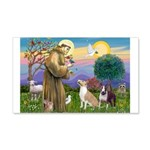 St Francis - 2 Bull Terriers (10-11) Wall Decal