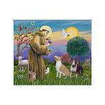 St Francis - 2 Bull Terriers (10-11) Throw Blanket