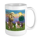 St Francis - 2 Bull Terriers (10-11) Mugs