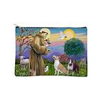 St Francis - 2 Bull Terriers (10-11) Makeup Bag
