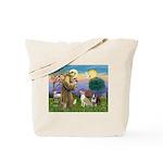 St Francis - 2 Bull Terriers (10-11) Tote Bag