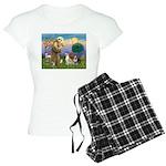 St Francis - 2 Bull Terriers (10-11) Pajamas