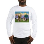 St Francis - 2 Bull Terriers (10-11) Long Sleeve T