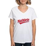 Mathlete Women's V-Neck T-Shirt