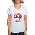 I Don't Wanna Grow Up Women's V-Neck T-Shirt
