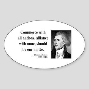 Thomas Jefferson 10 Oval Sticker