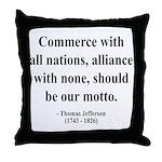 Thomas Jefferson 10 Throw Pillow