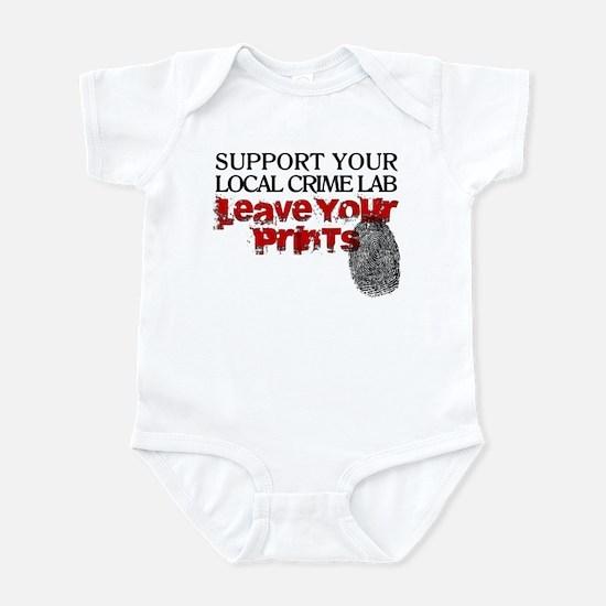 Crime Lab - Leave Your Prints Infant Bodysuit