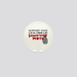 Crime Lab - Leave Your Prints Mini Button