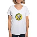 NYTPD Pipes & Drums Women's V-Neck T-Shirt