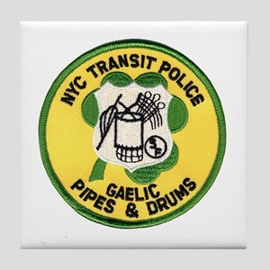 NYTPD Pipes & Drums Tile Coaster