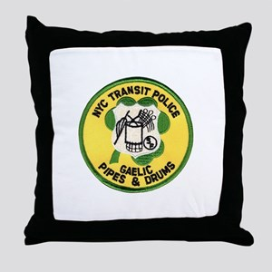 NYTPD Pipes & Drums Throw Pillow