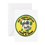 NYTPD Pipes & Drums Greeting Cards (Pk of 20)