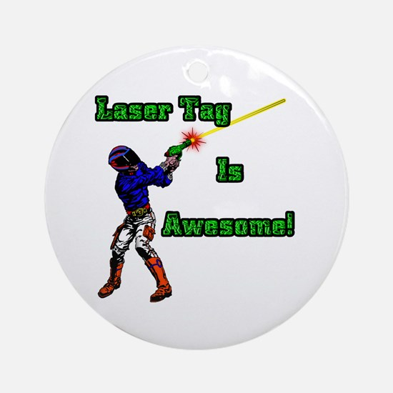 Laser Tag Ornament (Round)