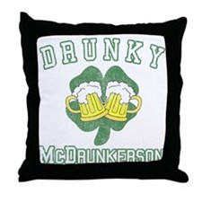 Drunky McDrunkerson Throw Pillow